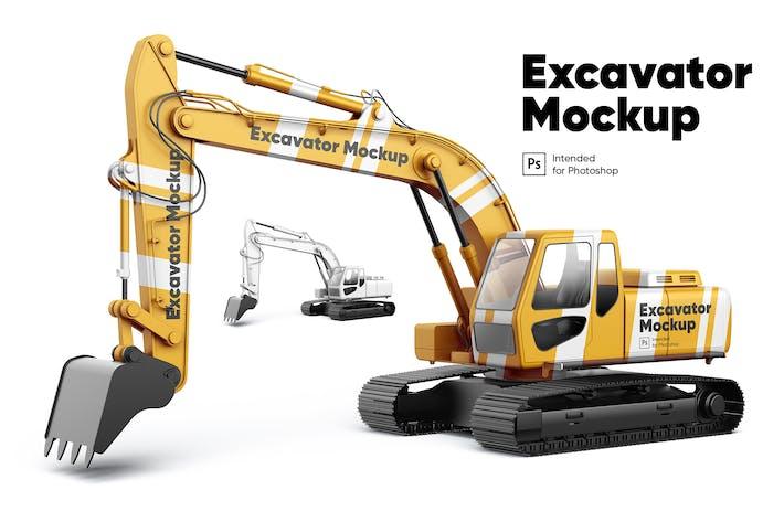 Thumbnail for Excavator Mockup