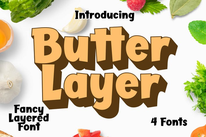 Thumbnail for Butter Layer 4 Fonts