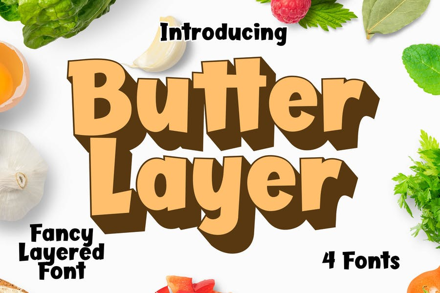Butter Layer 4 Fonts