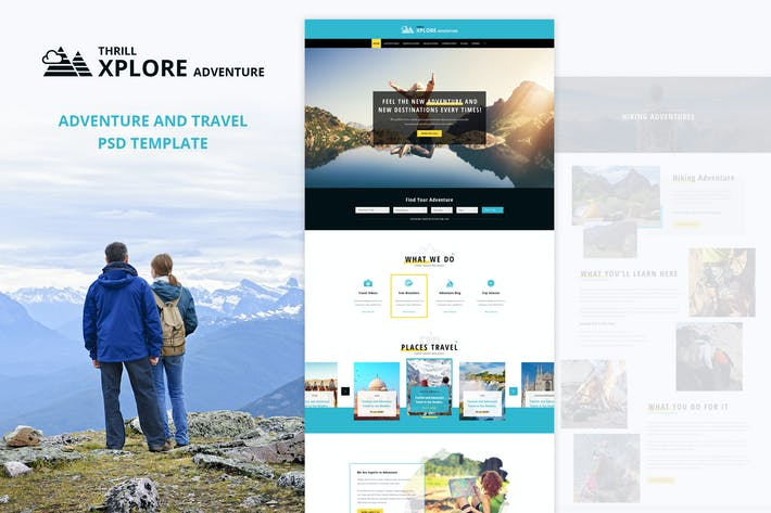 Thumbnail for Xplore - Adventure and Travel PSD Template