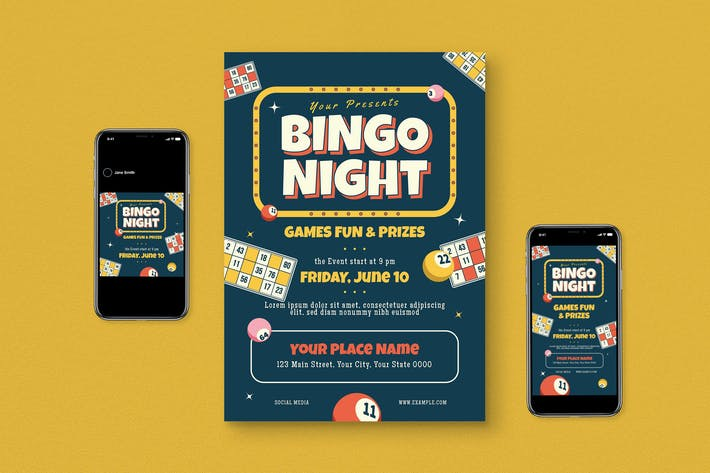 Bingo Flyer Set