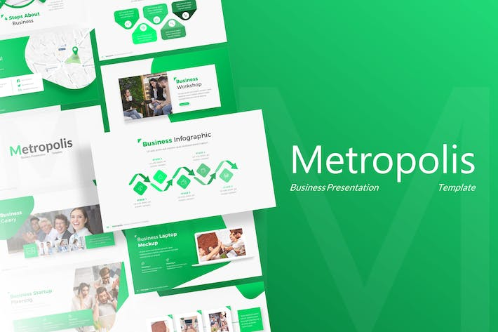 Thumbnail for Metropolis - Business Powerpoint Template