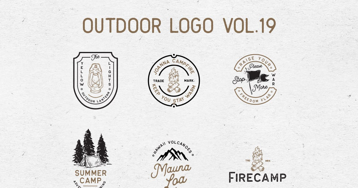 Download Outdoor Logo Vol.19 by letterhend