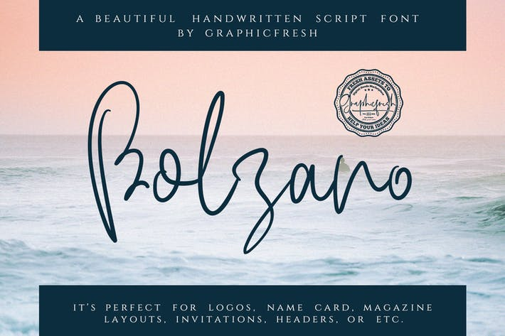 Thumbnail for Bolzano - A Beautiful Script Font