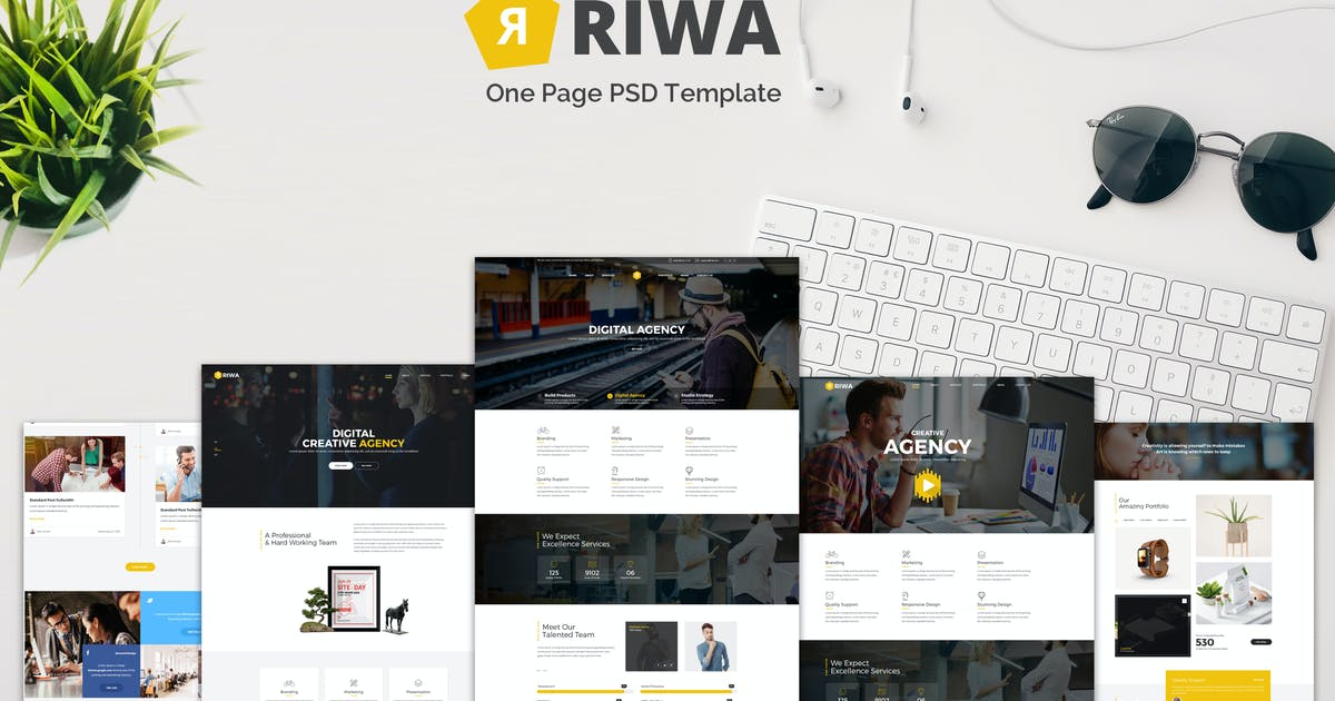 Download Riwa - One Page PSD by Unknow