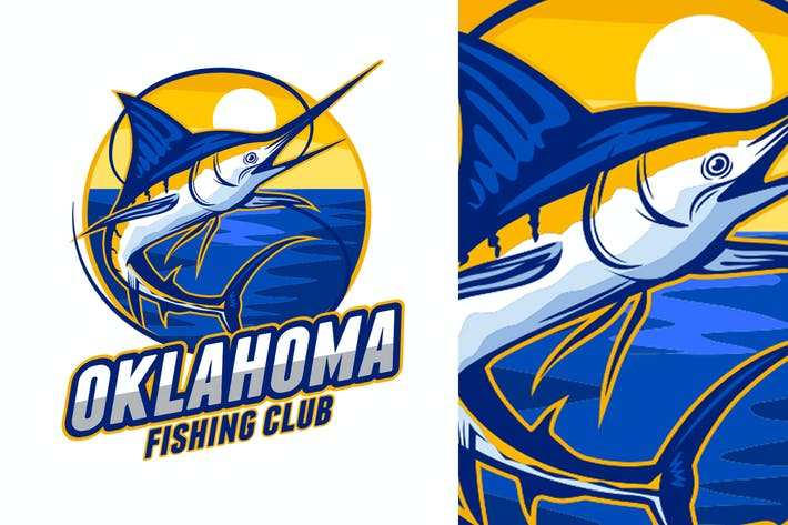 Thumbnail for Marlin Fishing Logo