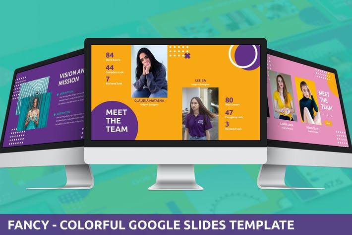 Thumbnail for Fancy - Colorful Google Slides Template