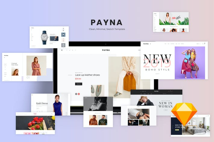 Thumbnail for PAYNA-Clean,Modern e-Commerce Templates