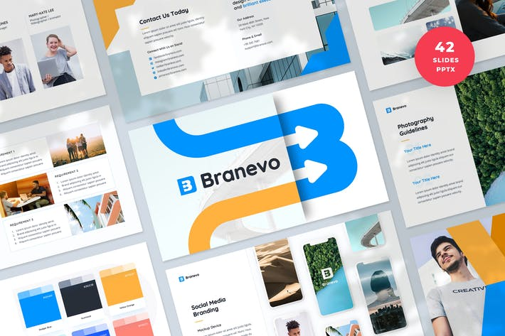 Thumbnail for Brand Identity Presentation PowerPoint Template
