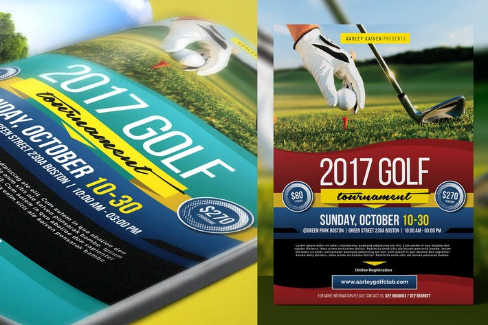 Cover Image For Charity Golf Tournament Flyer