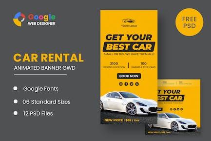 Best Rent Car HTML5 Banner Ads GWD