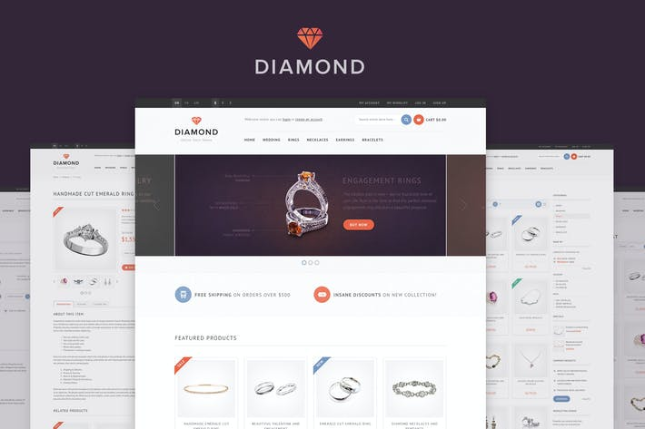 Thumbnail for Diamond — Responsive Magento Theme