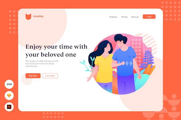 Enjoying Time - Website Header - Illustration