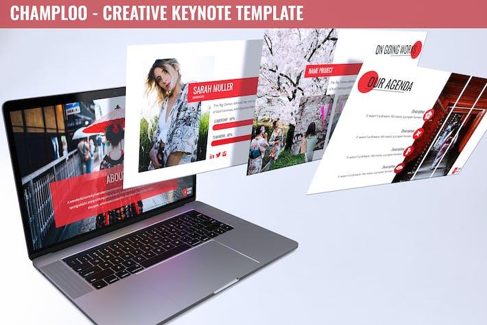 Thumbnail for Champloo - Creative Keynote Template