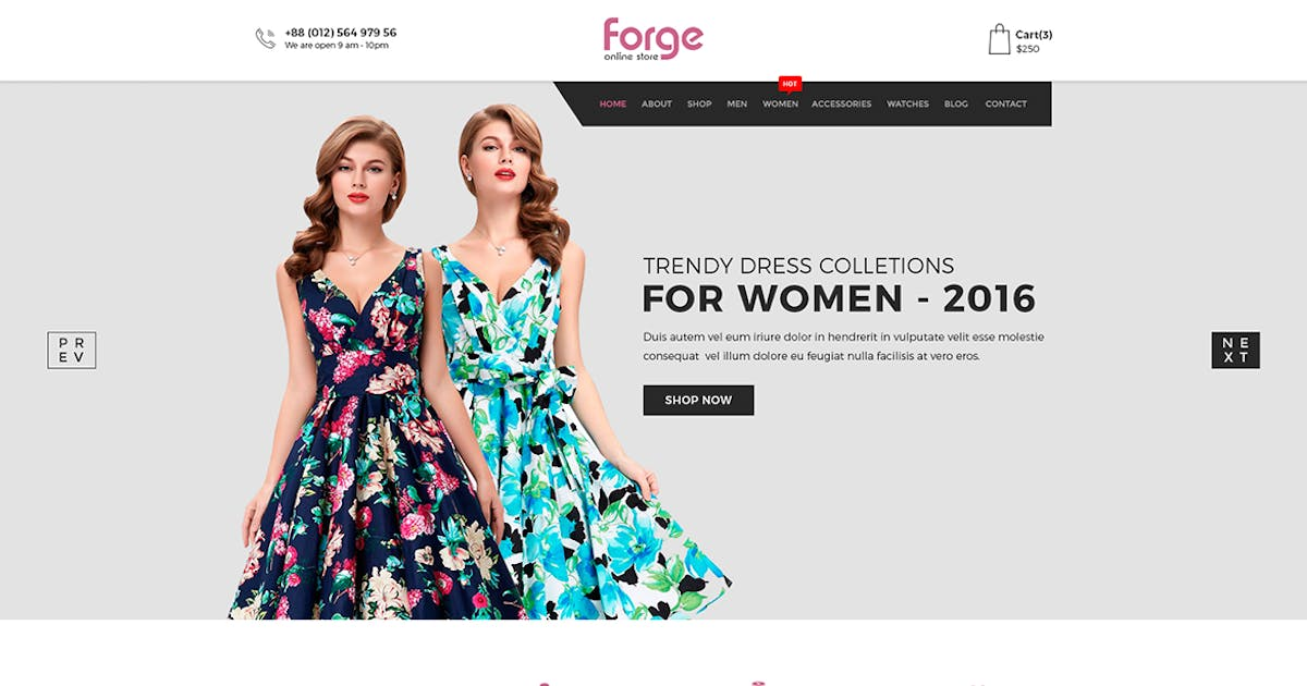 Download Forge - eCommerce PSD Template by codecarnival