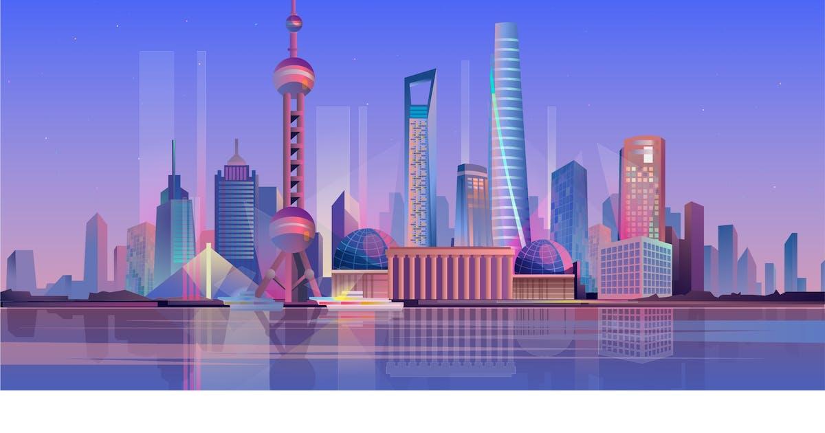 Download Shanghai - Illustration Background by DesignSells