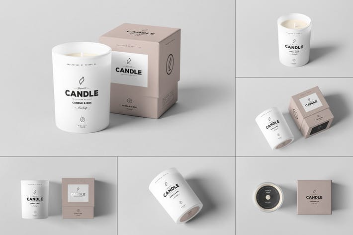 Thumbnail for Candle & Box Mock-up