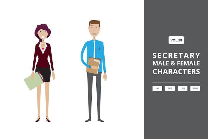 Thumbnail for Secretario - Personajes masculinos y femeninos Vol.30