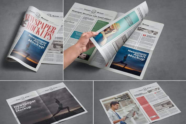 Thumbnail for Tabloid Size Newspaper Mockups