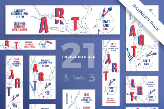 Craft Fair Banner Pack Template