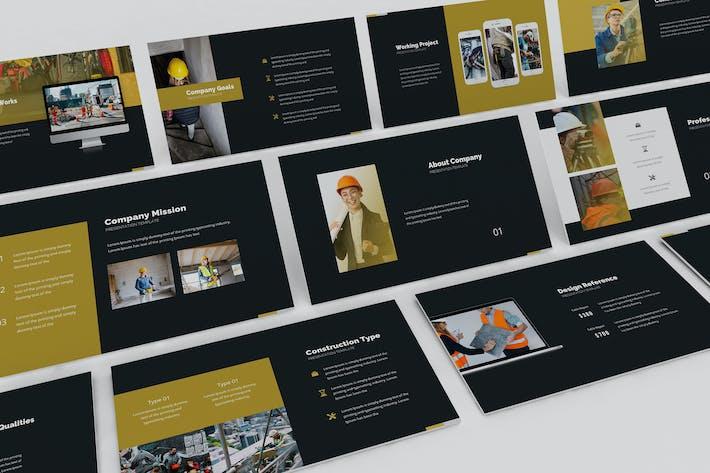 Шаблон презентации слайдов Google Зона архитектора