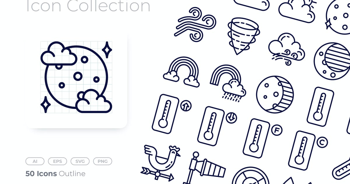 Download Weather Outline Icon by GoodWare_Std
