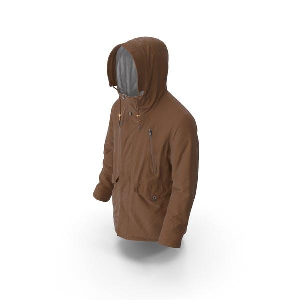 Thumbnail for Mens Down Coat  Brown