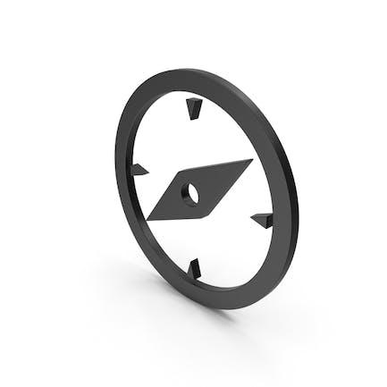 Symbol Compass Black
