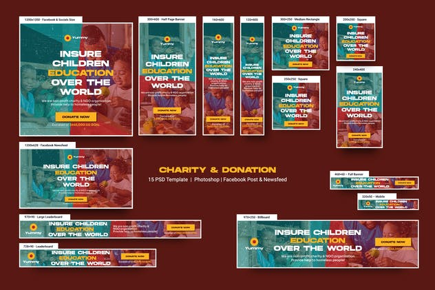 Charity & Donation Banners Ad