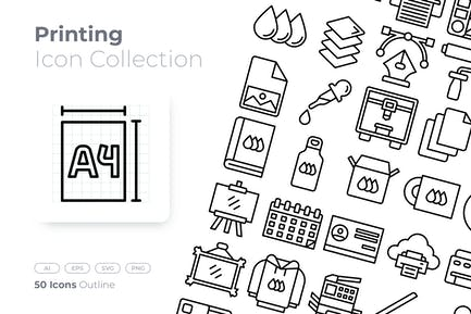 Printing Outline Icon