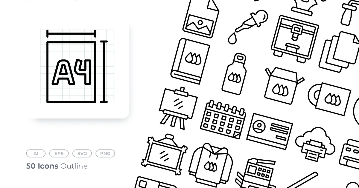 Download Printing Outline Icon by GoodWare_Std