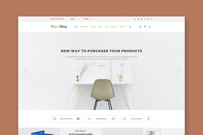 Thumbnail for Shop eCommerce PSD Template