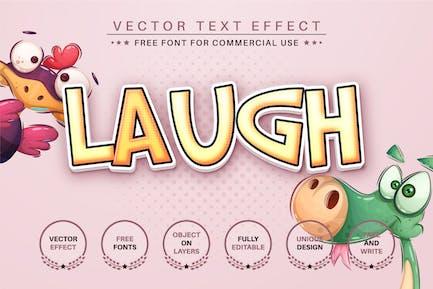 Laugh - editable text effect, font style