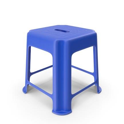 Blue Hard Plastic Stool