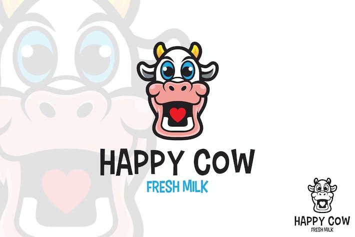 Thumbnail for Happy Cow Vector Logo Mascot