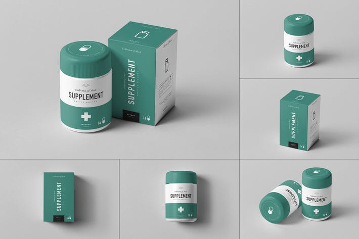 Thumbnail for Supplement Jar & Box Mock-up 3
