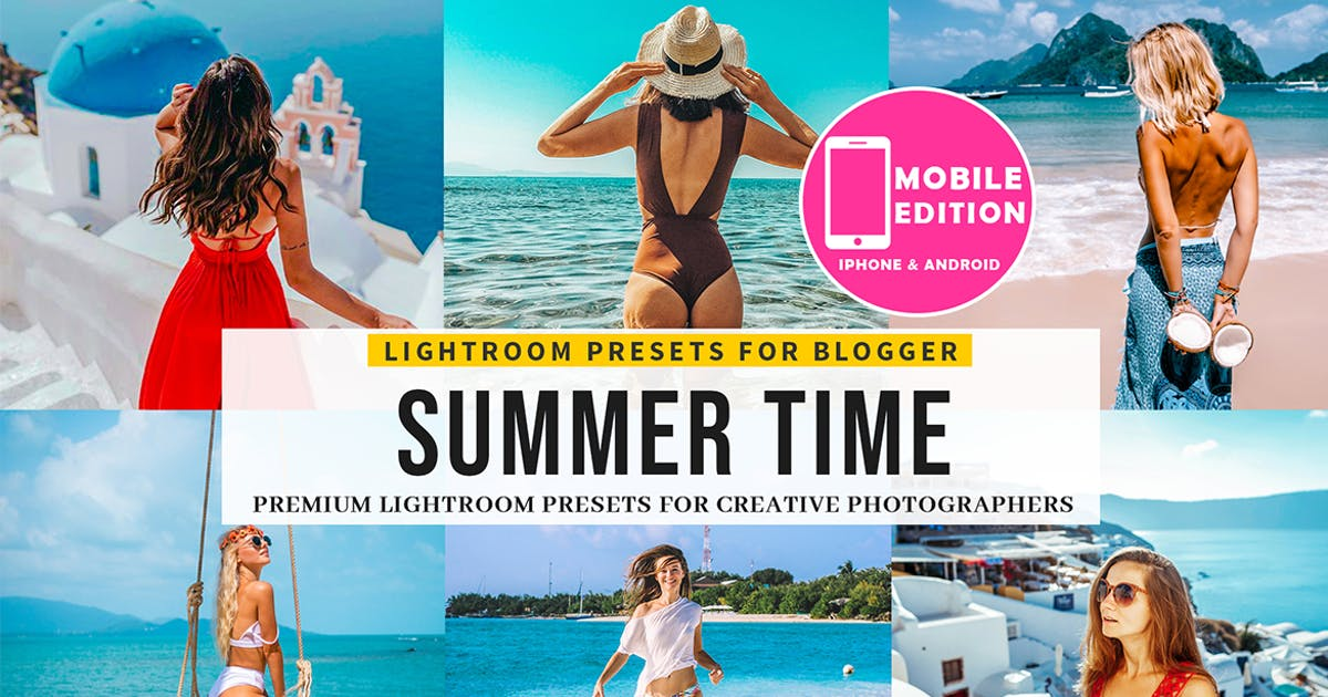 Download Summer time Lightroom presets by Presetsh