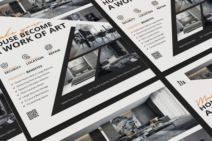 Thumbnail for Real Estate Poster PSD Template