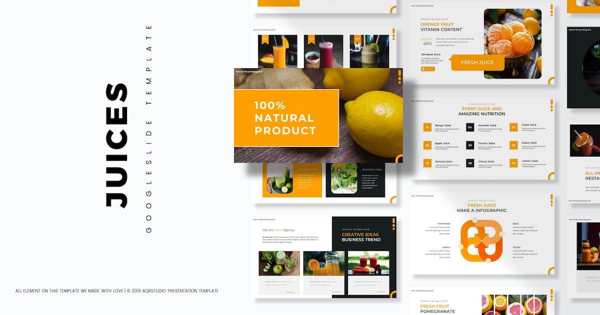 Download Juices - Google Slides Template by aqrstudio
