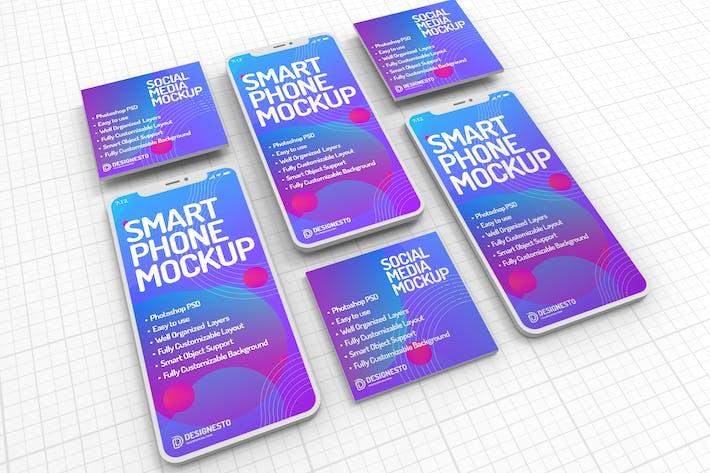 Thumbnail for Smartphone — Mockup Vorlage