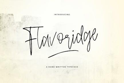 Flavoridge - Handwritten Typeface