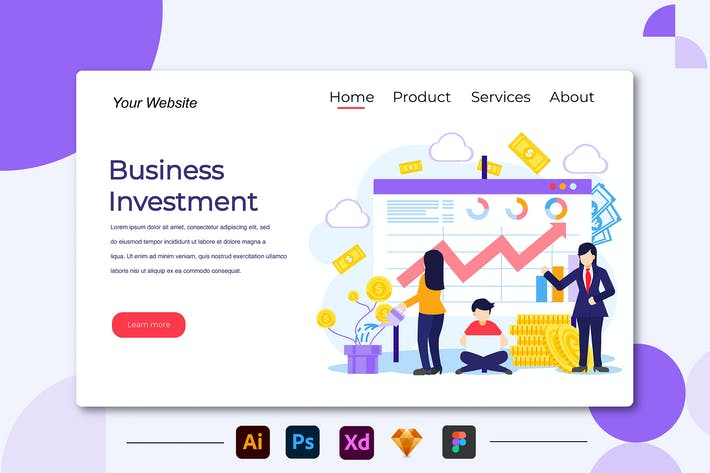 Thumbnail for Business Investmen - Landing Page