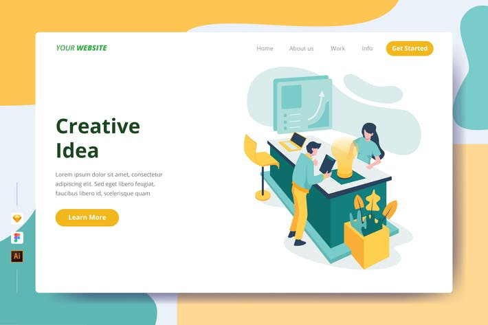 Thumbnail for Creative Idea - Landing Page