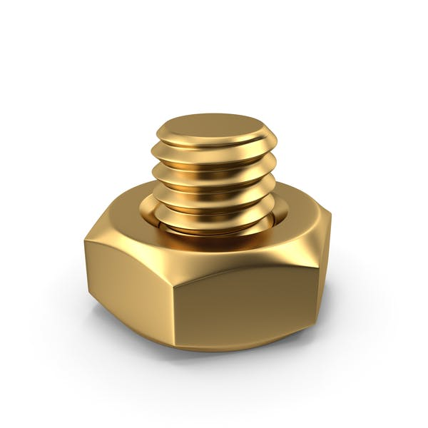 Bolt with Nut Gold
