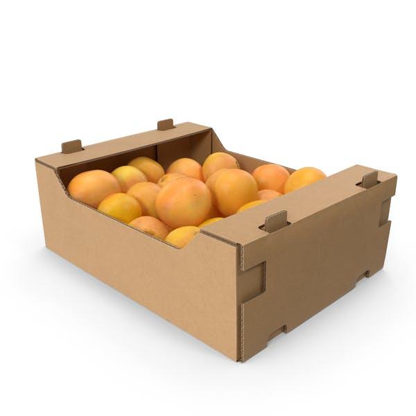 Картонная коробка с грейпфрутами