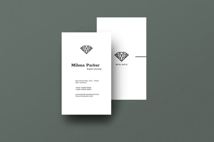 Thumbnail for Vertical Business Card Jewelry