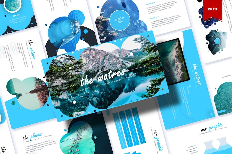 The Waters   Powerpoint Template