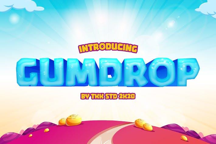 GUMDROP - Block Gaming font