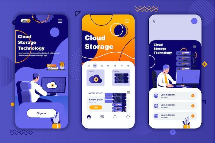 Thumbnail for Cloud Storage Instagram Stories Onboarding Screens
