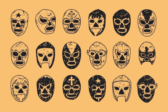 Thumbnail for Lucha Libre / Luchador Mask Doodle